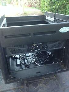 Crown XLI 1500W amp in case + 2 x Yamaha S15e speakers Carindale Brisbane South East Preview