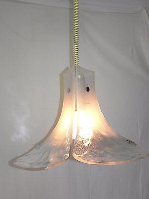 XXL Eisglaslampe J.T. KALMAR Eisglas 3x  Blätter Lampe Leuchte 60 cm Leuchten