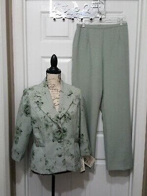 Vintage Perceptions New York Women 2pc Pants Suit Size 10