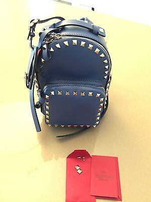 Brand New Valentino Small Rockstud Leather Backpack Retail $2175 tax