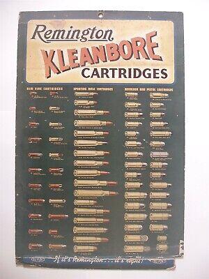 VINTAGE Original Remington Kleanbore Cartridges Poster Advertising Sign