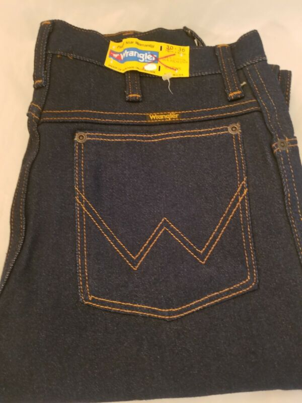 Vintage 1980s 80s Wrangler  NOS 956PWS Regular Fit Denim Pants 30 x36