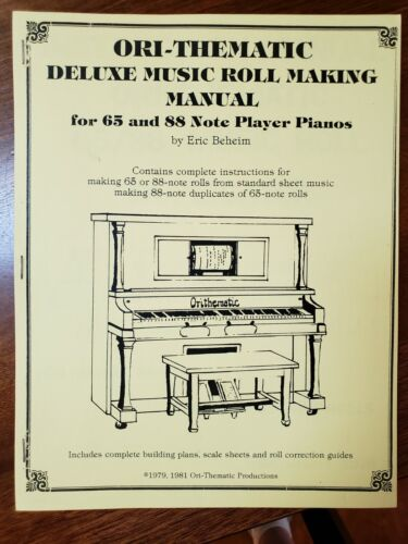 Ori-Thematic  65 88 note Player piano roll making cutting instructions Leabarjan