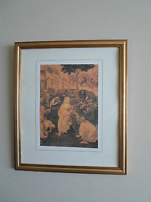 Unfinished Study for the Adoration of the Kings. Leonardo da Vinci - Litho Print