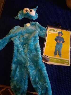 Kid's 3T-4T Cookie Monster Costume Worn Once EXCELLENT CONDITION FREE SHIPPING