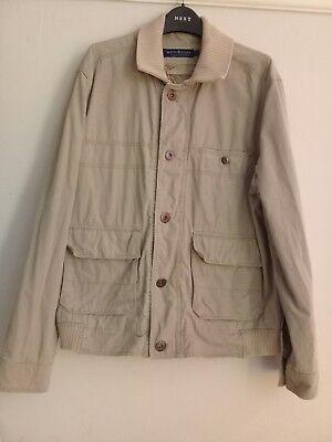 White Stuff Mens Beige Cotton Jacket Size L, usado segunda mano  Embacar hacia Spain