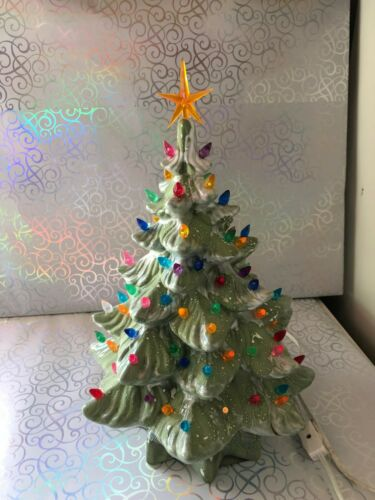 Vintage 14 High 2 Piece Ceramic Christmas Tree