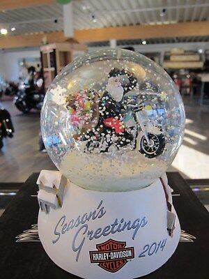 Harley-Davidson Schneekugel Snow Globe 2014 14,5 cm Rock Christmas 96810-15V NEU
