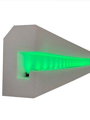 20 Metros + Corners Moldura Pared Estuco Para Iluminación Indirecta OL-37 XPS
