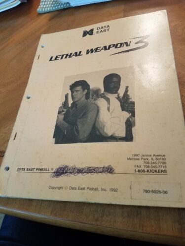 Lethal Weapon 3 pinball manual