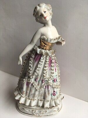Chase Angel Figurine with Bone China Lace Skirt Ruffles