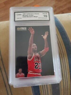 Michael Jordan 1997 Collectors Choice # 389 Michaels MAGIC GRADE 10