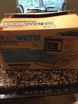 Vintage Magnavox Video Writer 160 Word Processor Printer Nib With Paperwork