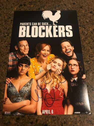 * LESLIE MANN & GIDEON ADLON * signed 12x18 photo poster * BLOCKERS * 1