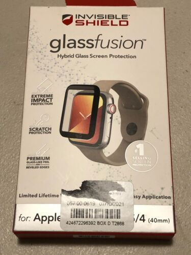Zagg Glass Apple Watch 4 5 6 SE 40mm Screen Protector Red Bumper Cover   Z68