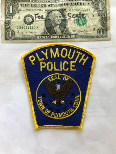 Rare Plymouth Connecticut Police Patch Un-sewn great shape