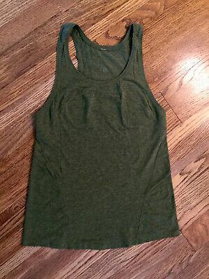 Lululemon Olive Green razor back soft tank Size 6-8