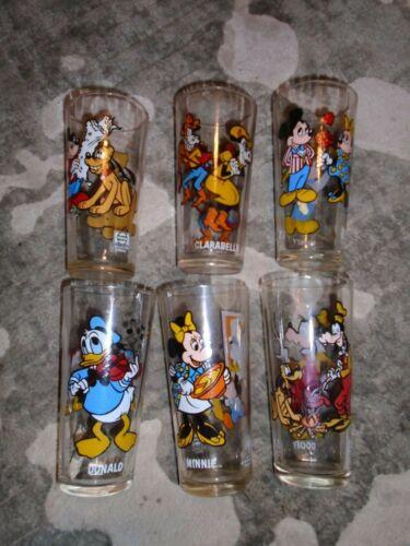 Vintage Pepsi 1978 Walt Disney Collector Series Glasses Set of  6