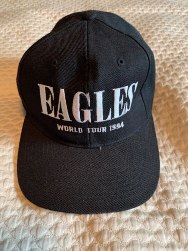 Rare Vtg Eagles World Tour 1994 Hell Freezes Over Snapback Hat Rare Done Henley