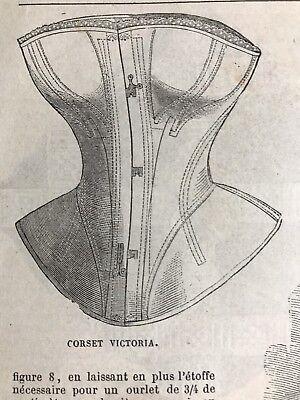 DIGITAL VERSION MODE ILLUSTREE SEWING PATTERN Jan 20,1862  CORSET VICTORIA