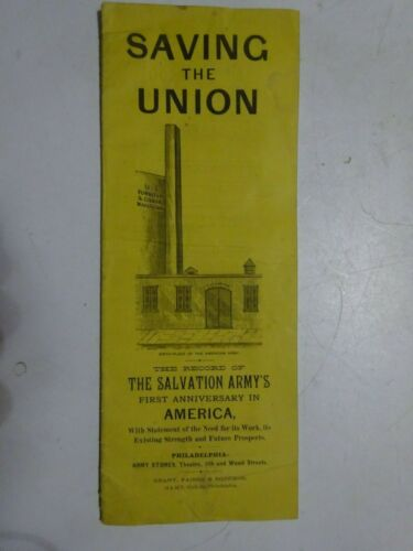 1880 SALVATION ARMY FIRST ANNIVERSARY IN THE UNITED STATES booklet