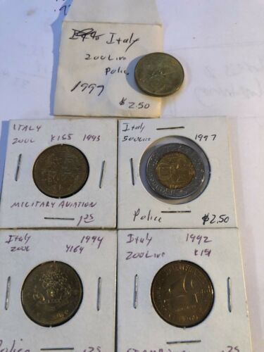 1992,93,94,97,97 Italy 200 & 500 Lire Commemorative Coins 5 Total