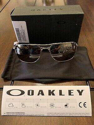 Oakley Gauge 8 M Polish Chrome Frame Tungsten Iridium Polarized Lens Sunglasses