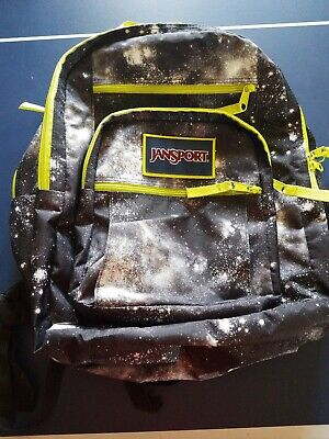 NWTJansport Big Student Backpack Book Bag Overexposed Black Galaxy T75K( rare