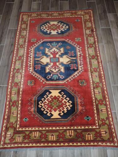 4x6ft. Handmade Caucasian Kargai Wool Rug