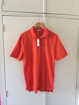 james perse Size 2 Medium 100% Supima Cotton Polo Shirt Bnwt