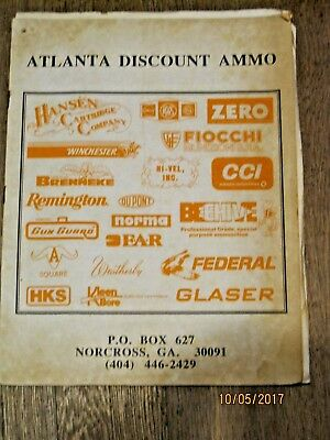 Discount Catalogues (Atlanta Discount Ammo Catalog- no date)