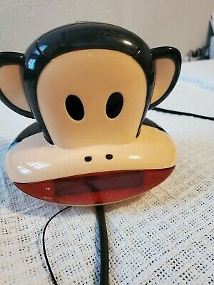 Paul Frank Julius Monkey Projection AM FM Radio Alarm Clock Projector kids