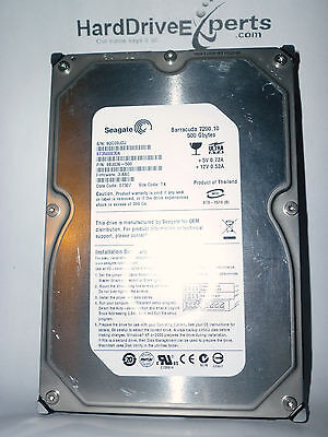Seagate 9Bj036 500 St3500830a Fw 3 Aac Date 07307 Site Tk 500Gb Pata Hard Drive