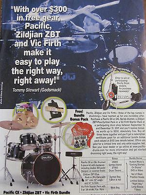 Godsmack, Tommy Stewart, Zildjian Drums, Full Page Promotional Ad