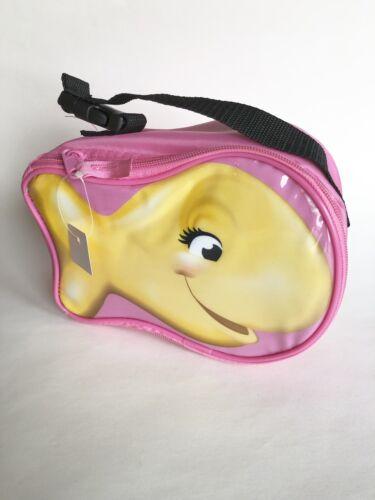 Pink Pepperidge Farm Goldfish Zippered Lunch Box / Snack Bag NEW