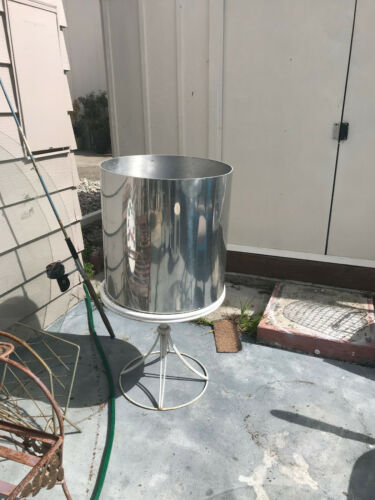"Vintage Mid Century Paul Mayen Style Large Aluminum Footed Planter 20"" Tall"