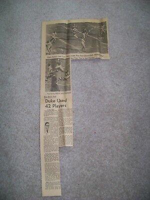 1960 Roanoke Times Va Norm Snead Wake Forest Jack Tesh Norman Snead Quarterback