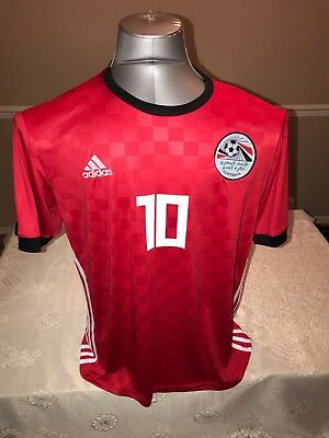 Egypt red soccer Jersey #10 Mohamed Salah Russia 2018 world cup football Size M