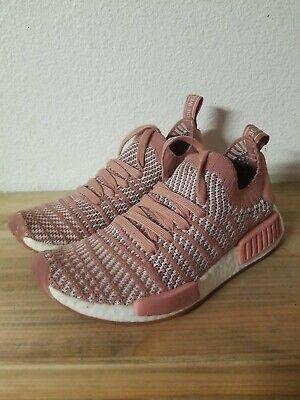 Adidas Nmd R1 STLT Primeknit Ash Pink Women's Running Shoes CQ2028 Size 6.5 US