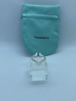 Tiffany & Co. T Square Ring in Sterling Silver Size 7