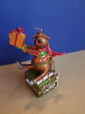 Reindeer Ornament Holiday Xmas Presents 4.5