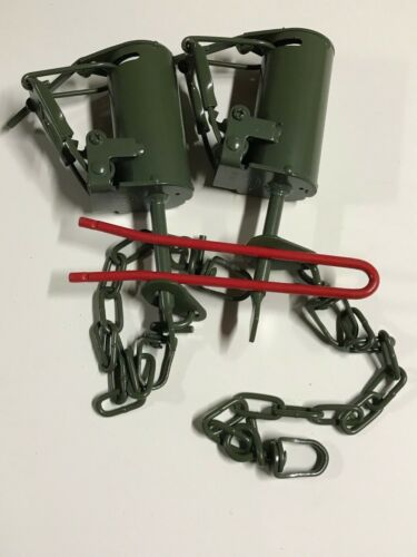 DP setter tool + 2 Powder Coated FPS DP Dog Proof Coon Traps  Raccoon NEW SALE