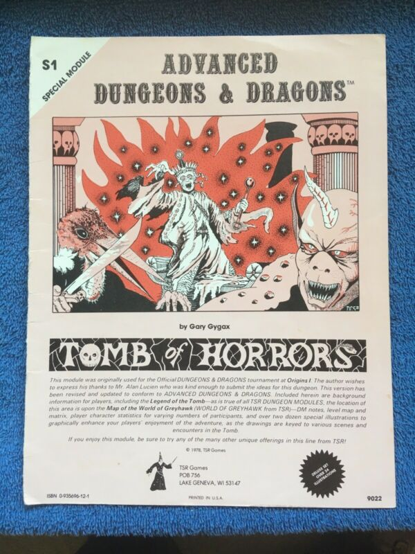 AD&D 1st Edition Module - S1 TOMB OF HORRORS 1978