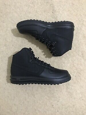 SUPER RARE BRAND NEW Mens Nike Lunar Force 1 Duckboot Triple Black RRP £150