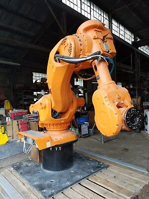 Used 6 Axis Foundry Robot Arm Abb Model Irb 7600 M2000 Version Irb 7600-4002.55