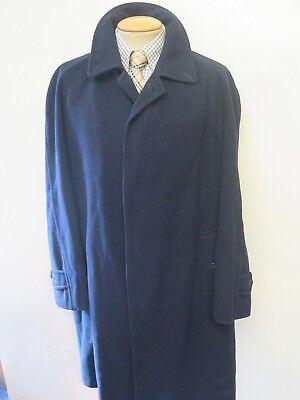 "Genuine Burberry Wool Raincoat Coat Mac Size L 42-44"" Euro 52-54 -Navy Blue"