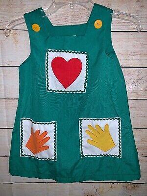 Miss Patty Cake Dress Jumper Girls Sz Medium Costume Vintage Patty Cake Dress