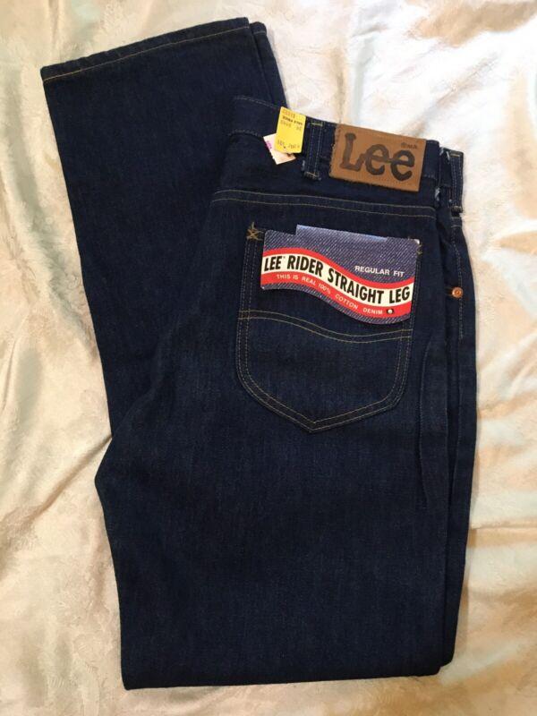 Vtg Lee Rider Straight Leg Jeans Union Made NWT 33X32 200-0147
