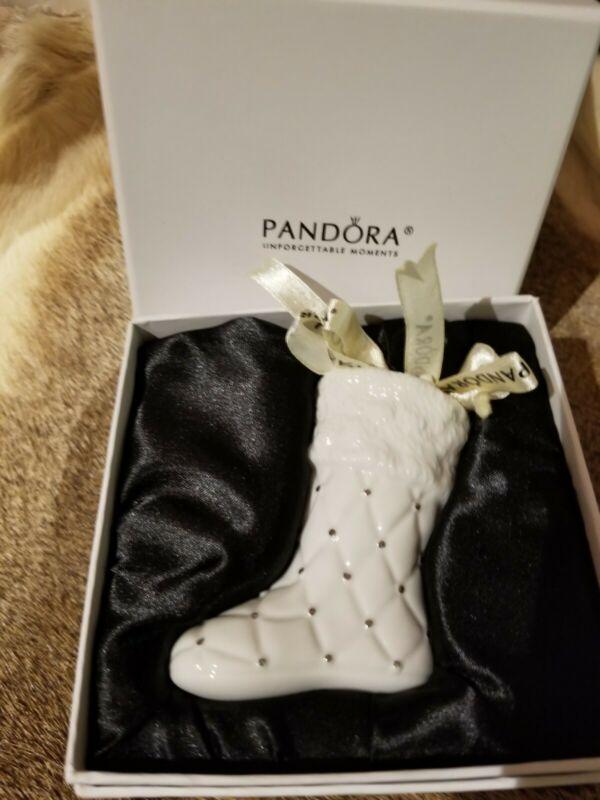 Pandora 2012 Limited Edition Christmas Stocking Boot Ornament Charm W/ Pouch NEW