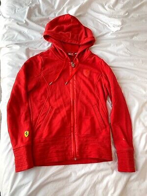 Puma Ferrari Red Womens Track Jacket Sweatshirt S